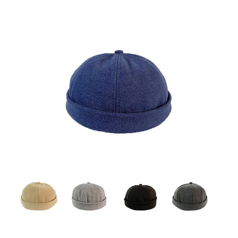 """Чистые цветные шерстяные арендодатели """"Любители крови кожи шляпы шляпы личности хип-хоп yuppie baotou шляпа"""