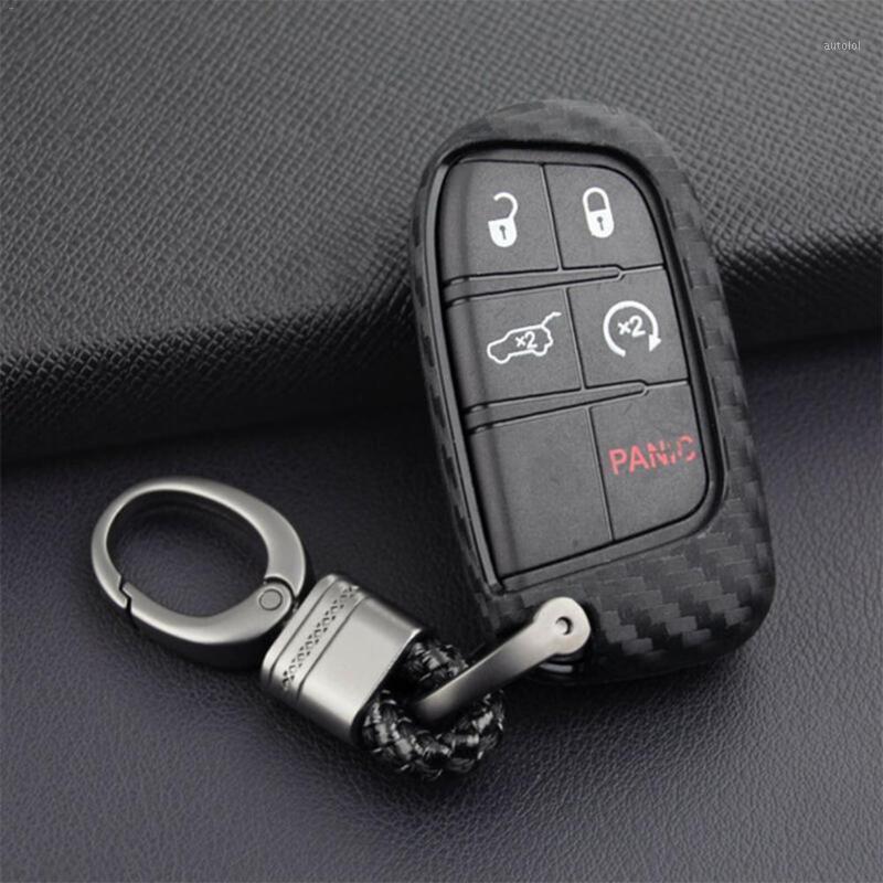 Custodia per auto Cassa Cassa Placcatore Telecomando Tasto Portachiavi Portagrumi Blade Catena in lega di zinco Set auto per Dodge Chrysler1