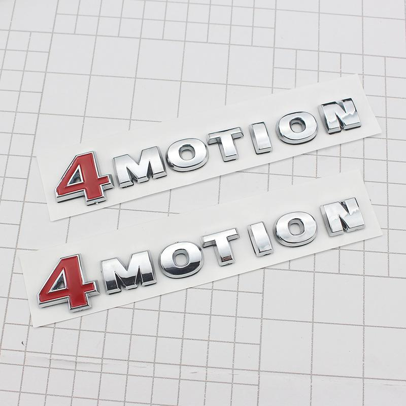 1pcs ABS 4MOTION 4 Motion Emblème Sticker Voiture Décalque arrière pour Passat Touareg Golf Polo Tiguan Jetta Carke Board Badge Sticker