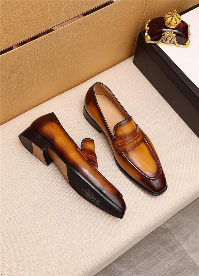 Cuisine authentique de style britannique Hommes chaussures robe en cuir souple Chaussures Hommes Oxfords Chaussures officielles Chaussures de mariage Noir Plus de taille 45