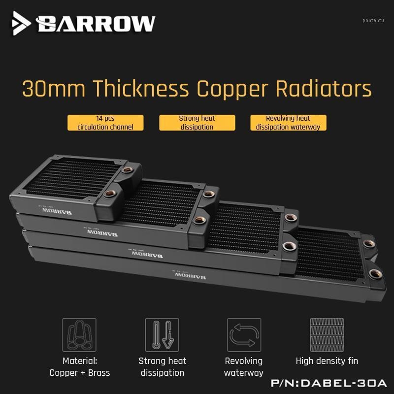 Barrow Copper Radiator Case 360/240/120 Heatsink 30mm Thickness 14pcs Circulation Channel Suitable For 120mm Fans Dabel-30a1