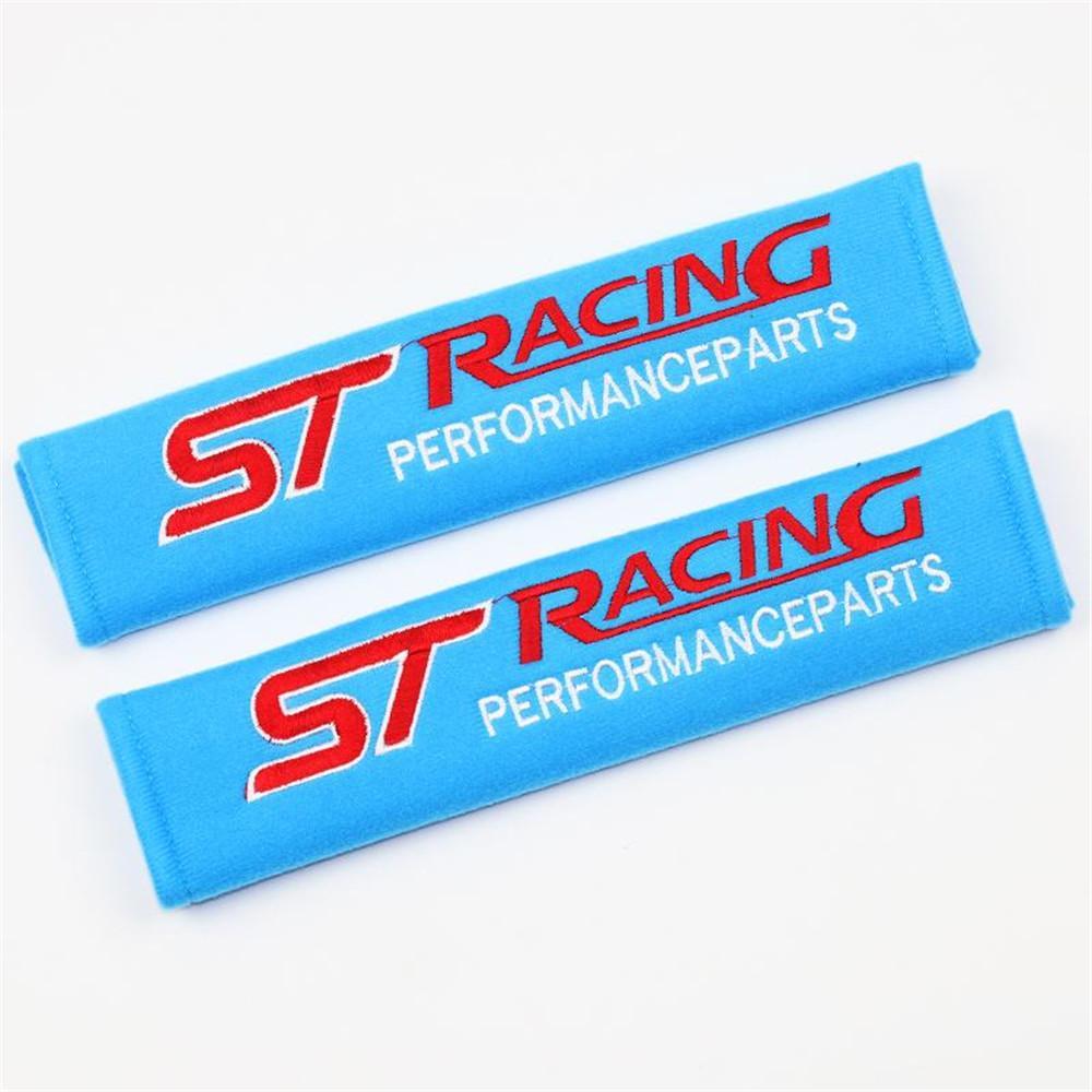 2 stücke Auto Sicherheitsgurt Abdeckung Auto Styling Auto Fall Für Ford St Racing Focus Fiesta Mustang Ranger Ecosport Zubehör Auto-Styling