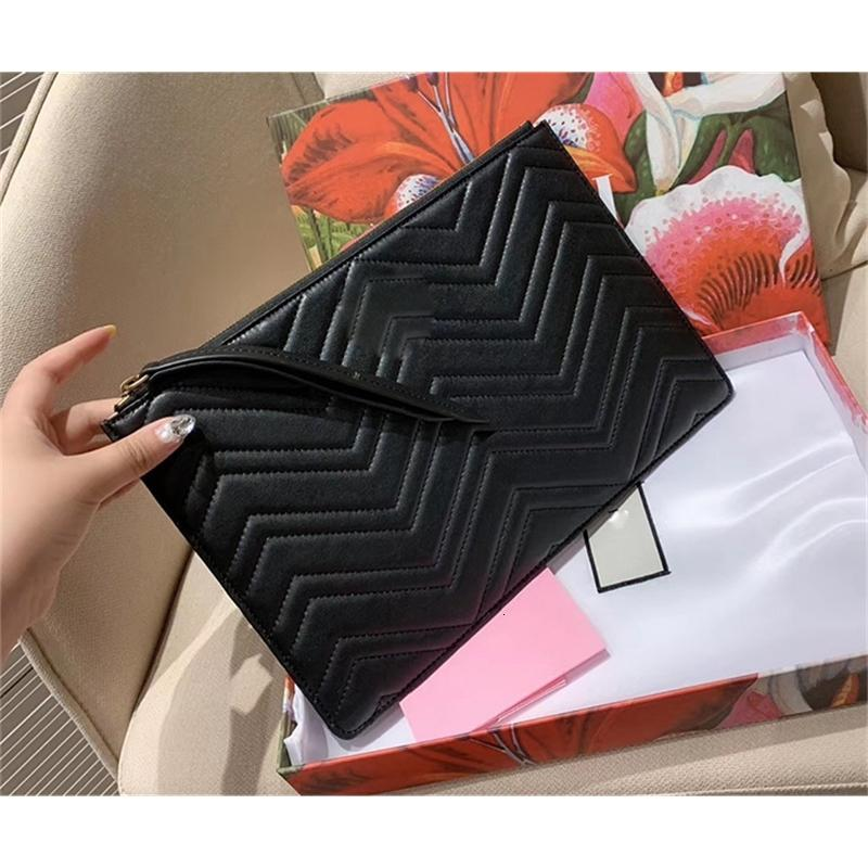 5A Sacs à main de qualité Sacs d'embrayage Fashion Real Cuir Sac sac à portefeuille sacs à portefeuille avec boîte et sac à poussière