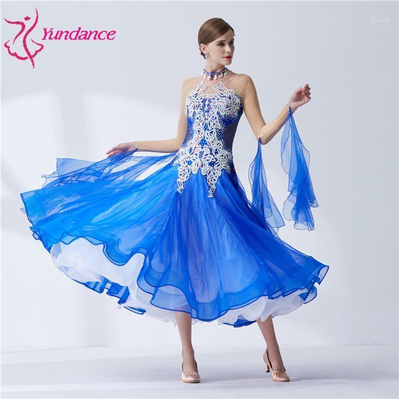 B-18553 Neue Designs Hohe Qualität Erwachsene Frauen Professionelle Internationale Standardwettbewerb Ballsaal Dance Kleid für Verkauf1