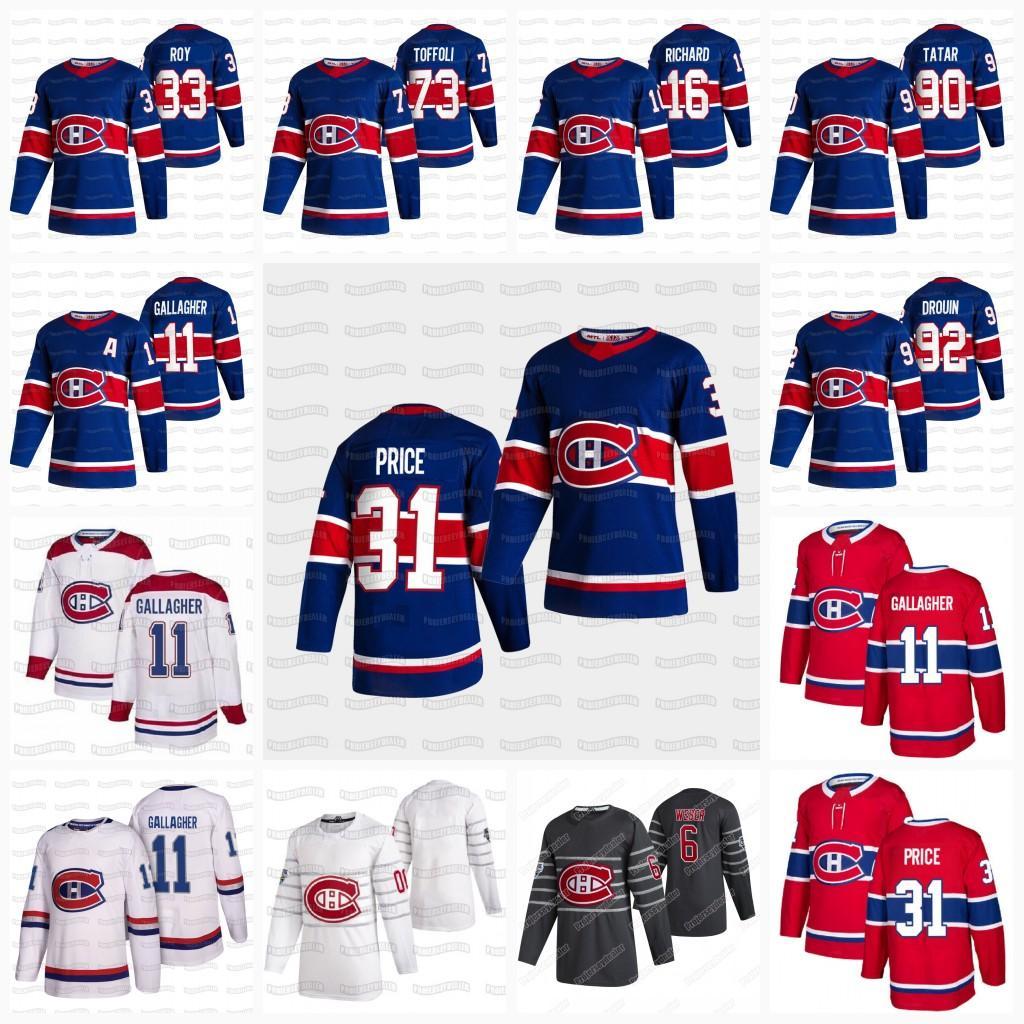 Donne Carey Prezzo Montreal Canadiens Cole Caufield Jersey 2021 Reverse Retro Jake Allen Brendan Gallagher Domi Anderson Danault Drouin Kotkaniemi Weber
