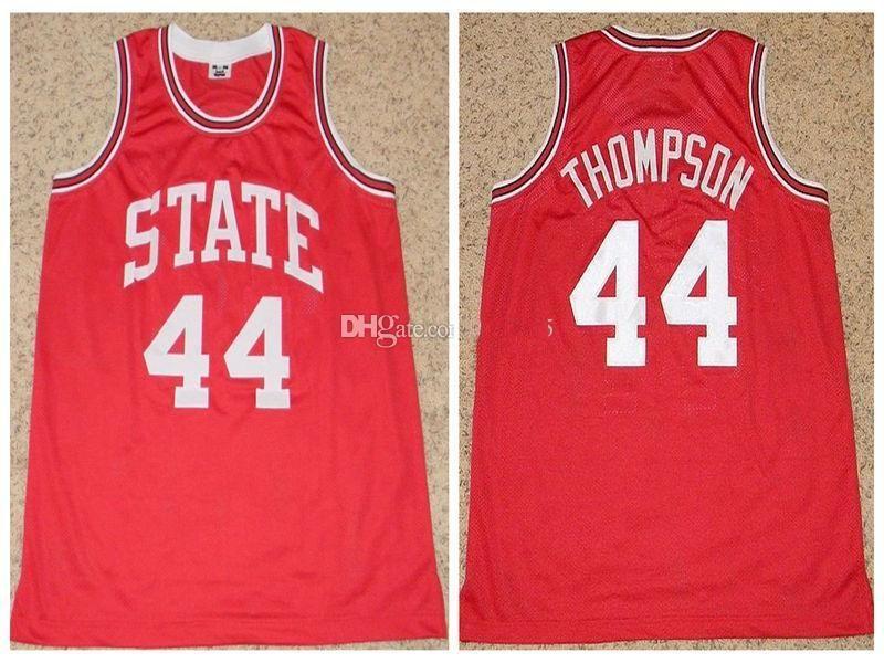 NCAA # 44 David Thompson NC State Wolfpack College Retro Classic Basketball Jersey Mens Nähte benutzerdefinierte Nummer Namens Trikots