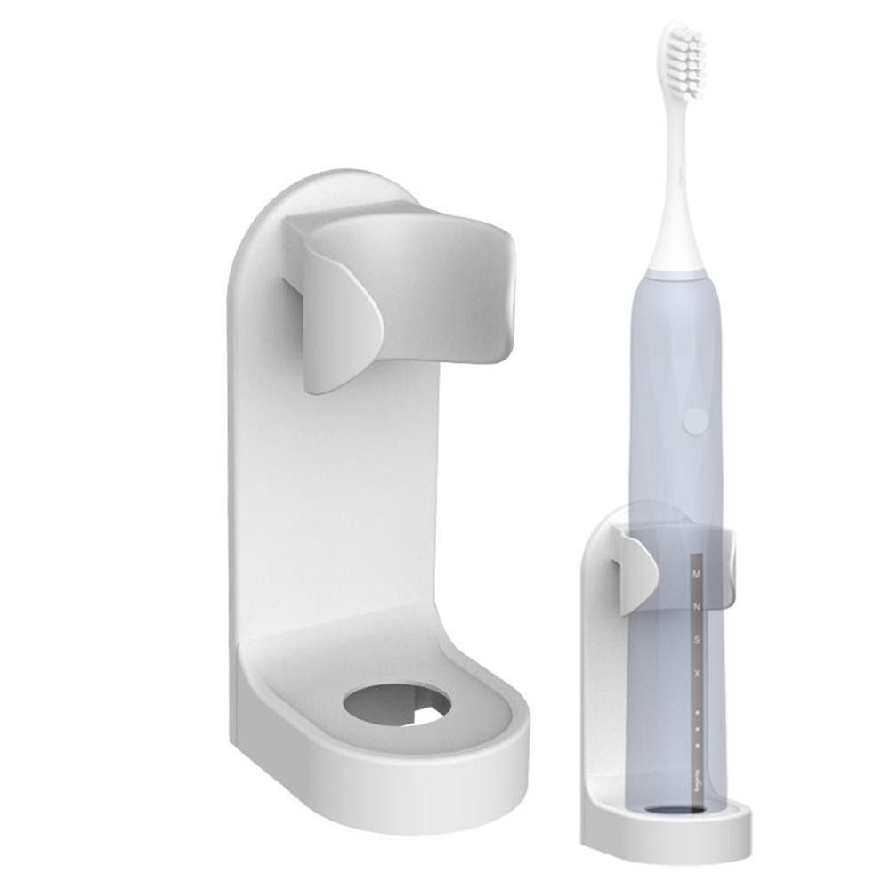 1 PZ Creativo Bianco Stand Track Spack Spazzolino da denti Organizzatore di spazzolino da denti elettrico Parete Supporto a parete Spazio Risparmio Accessori da bagno
