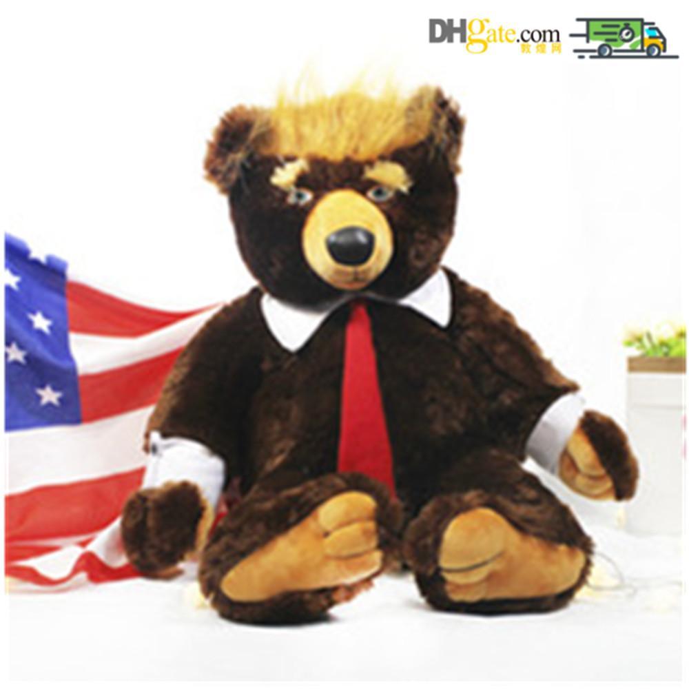 60 سنتيمتر دونالد ترامب الدب أفخم لعب بارد الولايات المتحدة الأمريكية رئيس الدب مع العلم لطيف الحيوان الدب دمى ترامب أفخم لعبة محشوة الاطفال هدايا