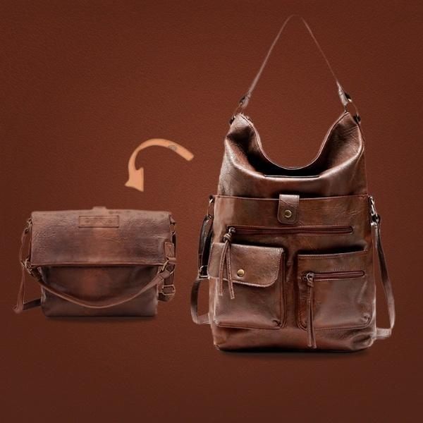 Frauen-Beutel-Schulter für Mädchen PU-Leder-Handtaschen Umhängetasche falten Pakete Mode-Qualitäts-beiläufige Tote Bag 14'laptop