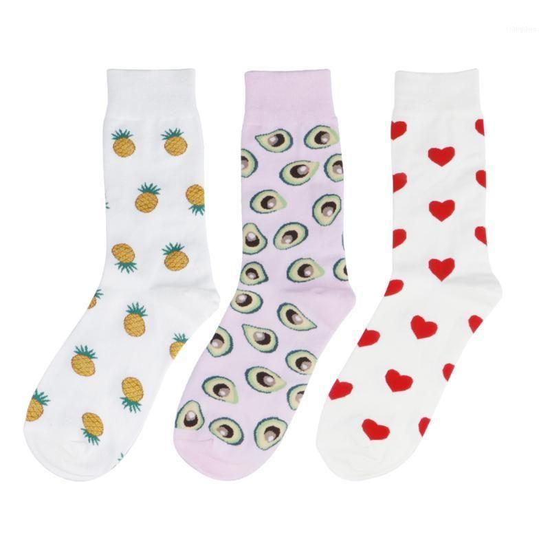 Komik Avokado Ananas Aşk Kalp SHIBA Erkekler Mürettebat Çorap Yenilik Sevimli Kadın Meyve Köpek Pamuk Çift Sock1