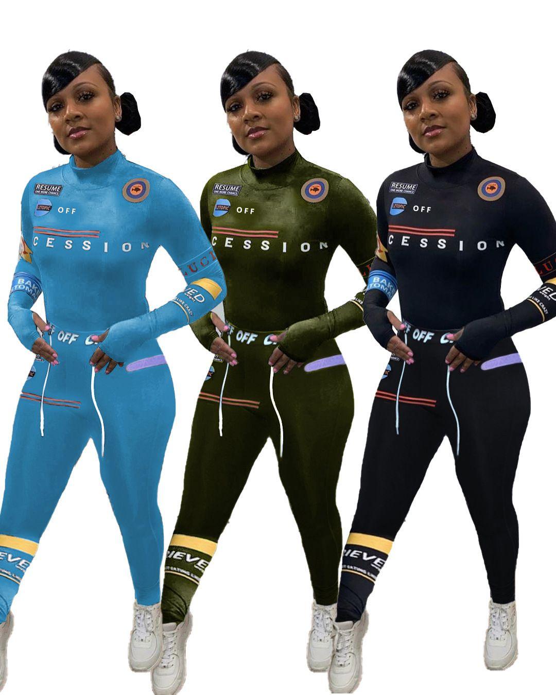 Femmes Tracksuits Ensemble de deux pièces Recommandes Personnalisée Pantalon à manches longues imprimées à manches longues de la femme Sportswear Loisirs Sports Sports