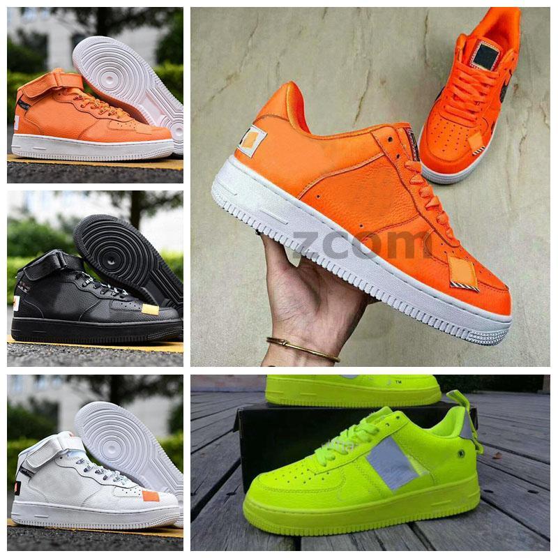 2021 Chaussures 유틸리티 07 여성을위한 운동화 Mens 1S 트레이너 오렌지 화이트 블랙 그린 볼트 스케이트 보드 스니커즈 스포츠 하나의 Zapatos