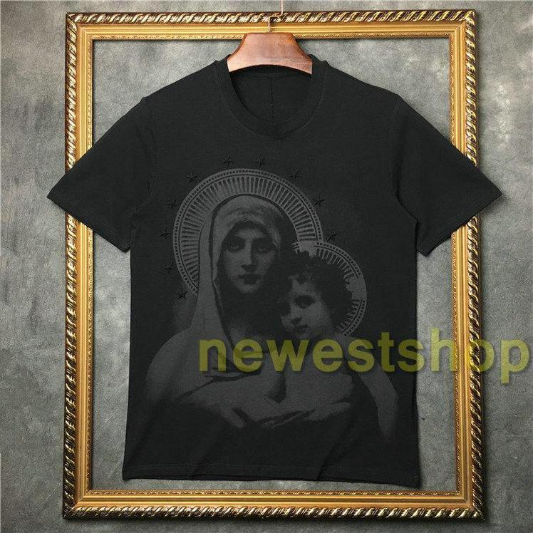 2021 летние новые моды девственные детские звезды печатание футболка высокое качество мужчины с коротким рукавом футболки топы тройники повседневная одежда