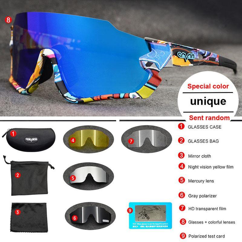HAUTE QUALITÉ Polarisé 5 Lens Vélo Vélo Eyewear Hommes Femmes Vélo Vélo Vélos VTT Verres de plein air Sports de plein air Sunglasses Vélo Vélo