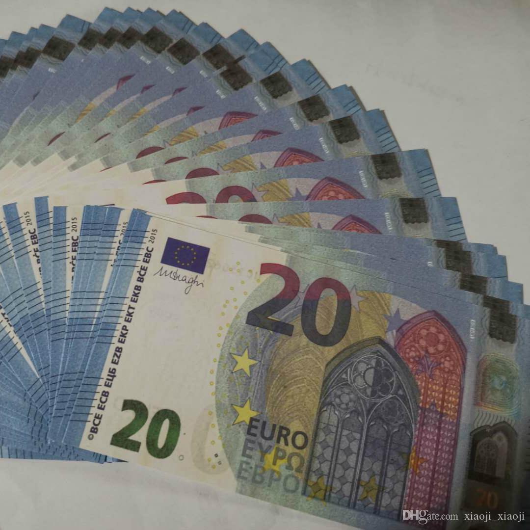 Geschenke Billet identifizieren Geld Euro Faux Prop Kopieren Geld Banknoten 20 Party Kinder Bildung Geld Kreative Spielzeug Bühne JCVGQ