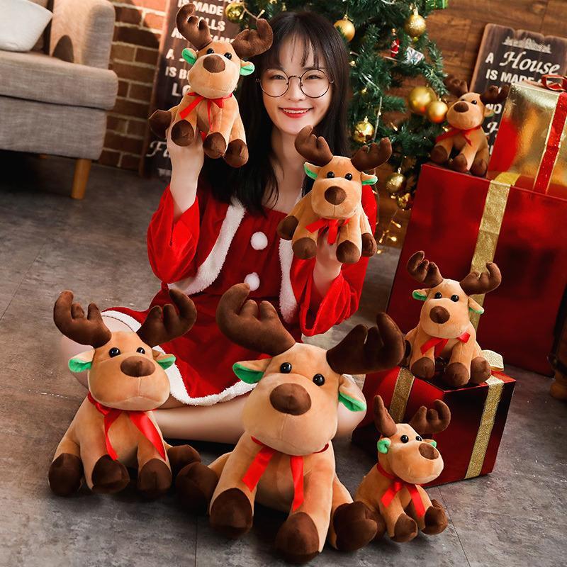 Niños Animal Muñeca Soft New Creative Elk Doll Peluche Juguete Navidad Relleno Muñeca Niños Regalo de Navidad
