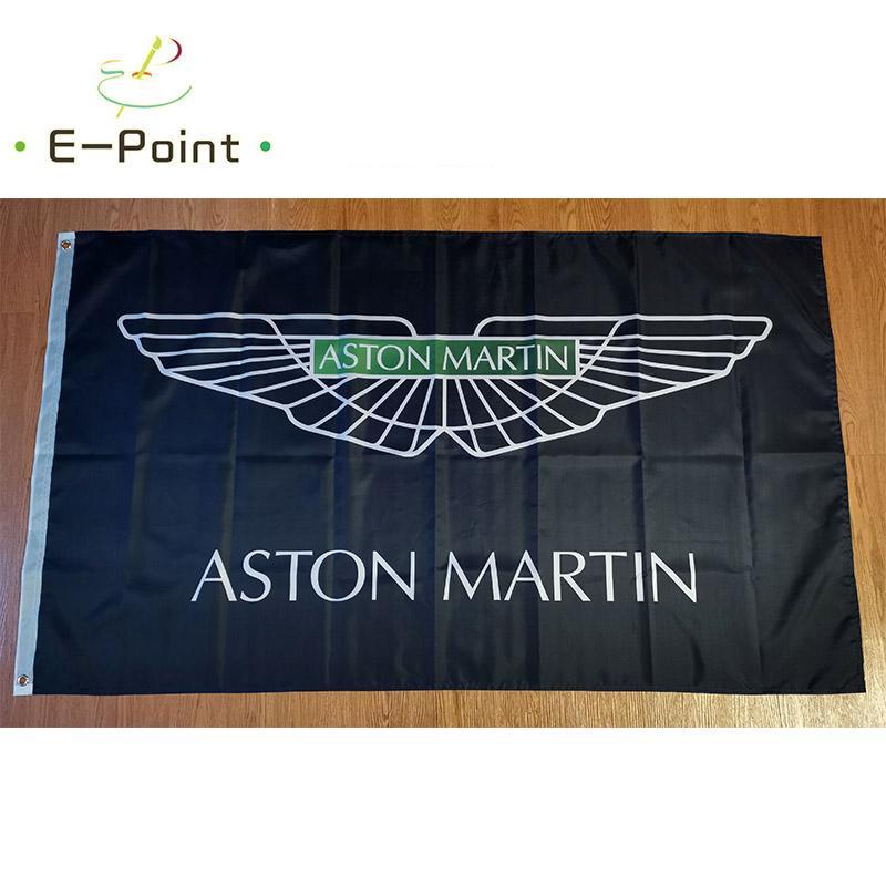 أستون مارتن سباق العلم 3 * 5ft (90 سنتيمتر * 150 سنتيمتر) البوليستر العلم راية الديكور تحلق المنزل حديقة العلم هدايا احتفالية