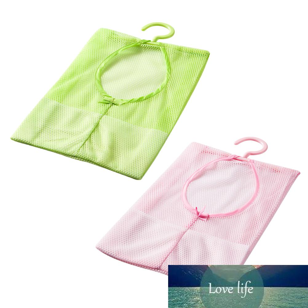 2pcs Mesh Bag Hanging Kitchen Storage Organizer with Hanger for Kitchen Bathroom