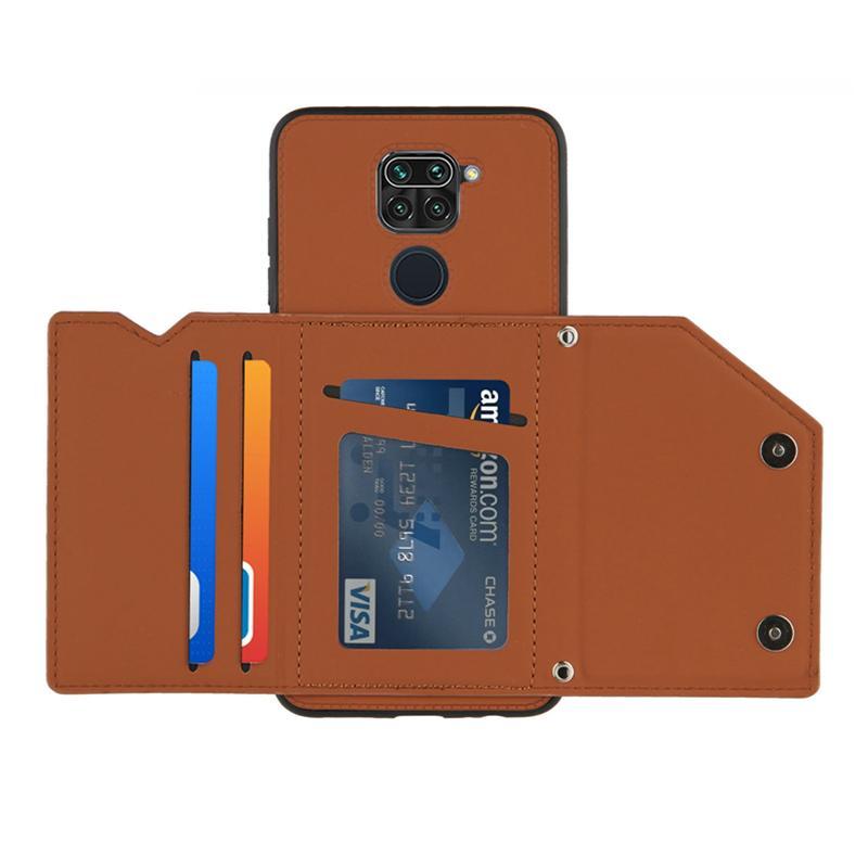 Xiaomi Redmi 노트 9 Pro Max Luxury 전화 케이스 Xiaomi Poco x3 NFC Redmi 9A 9C 카드 포켓 커버