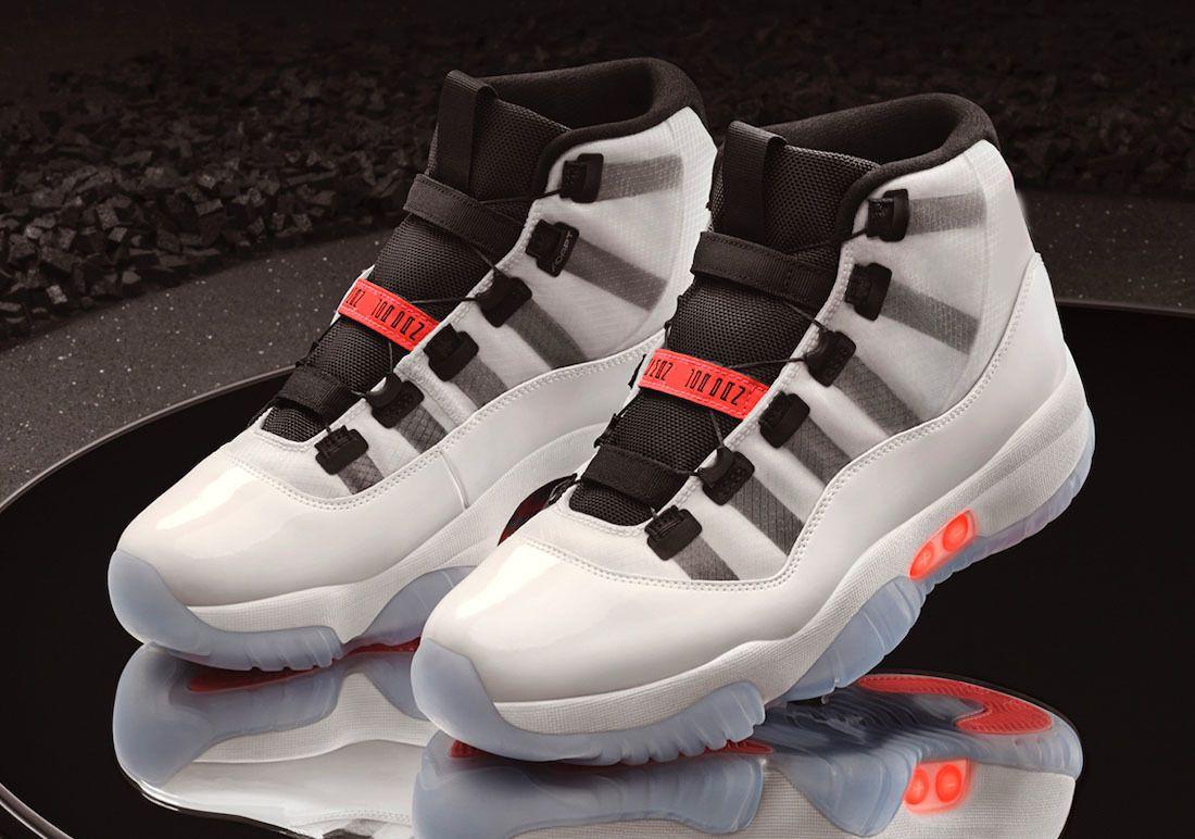 2021 Best Authentic 11 High og Adapt automatische Schnürsenkel Die selbstspezifische Real Carbon Faser Rote Multi-Color-Männer Outdoor-Schuhe Sport Turnschuhe