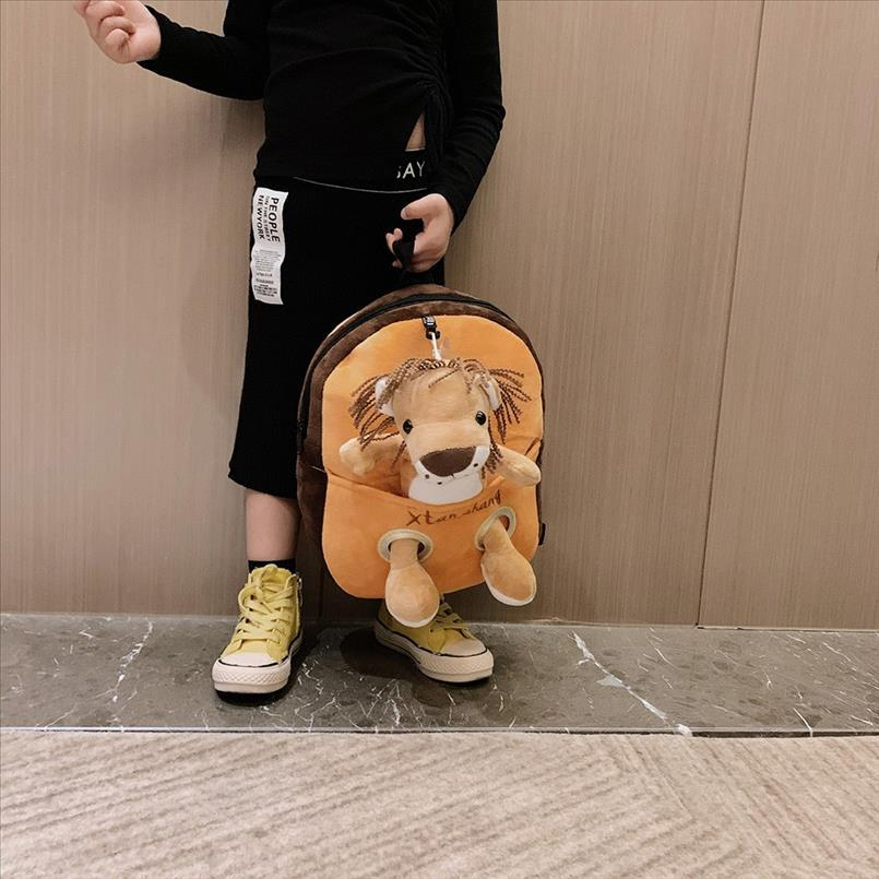 Children 2019 New Fashion Leopard Wild Corduroy Backpack Variety Backpack Character Cartoon Cute Fashion Zipper Kids