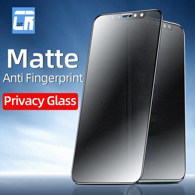 Застреленное стекло конфиденциальности для iPhone 12 11 Pro Max Protector на iPhone X XS XR 7 8 6s Plus SE 2 Anti-Fingerprint Film