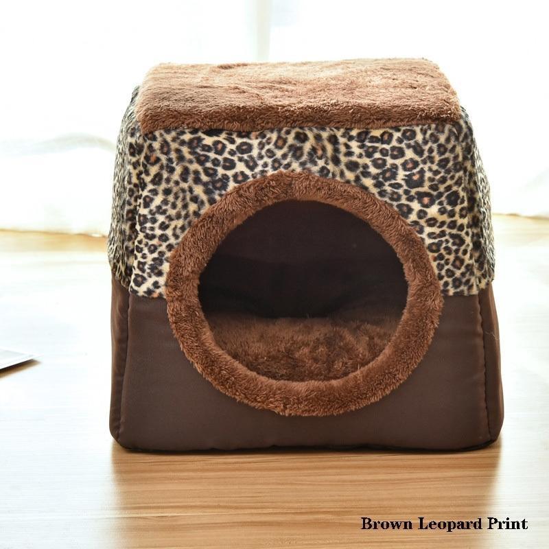 Pet Cat Dog Gest Двойной Используйте теплый мягкий спальный кровать кошка Дом для собак Pad для домашних животных нескользящий дышащий полу закрытый спальный коврик Office 201111