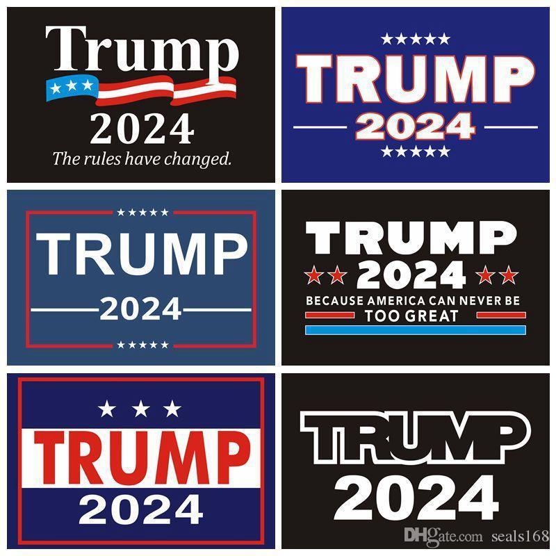 2024 Trump Araba Çıkartmaları ABD Başkanlık Kampanyası Trumps Sticker Tampon Sticker Dekoratif 8 Renkler XD24228