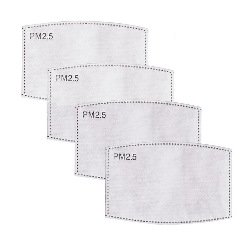 Tek Kullanımlık Maske Filtre Yetişkin Çocuk Maske Pedleri 5 Katmanlı PM2.5 Aktif Karbon Siyah Mat Anti Toz Maskesi Filtre Değiştirme Mat HWC4115
