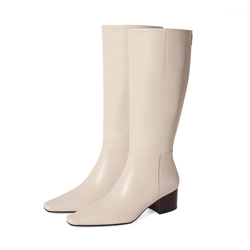 Tacchi alti Stivali Stivali da donna in vera pelle Stivali alti Moda Autunno Inverno Per Le Donne Party Casual Scarpe Donna1
