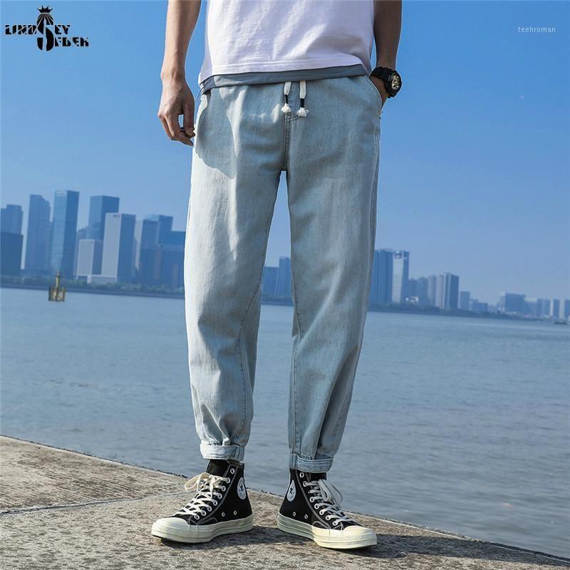 Lindsey Seader Jeans For Men Blue Denim Mens Jean Homme Harem Hip Hop Broken Holes Trousers Uomo Fashions Jogger Pants1 Men's