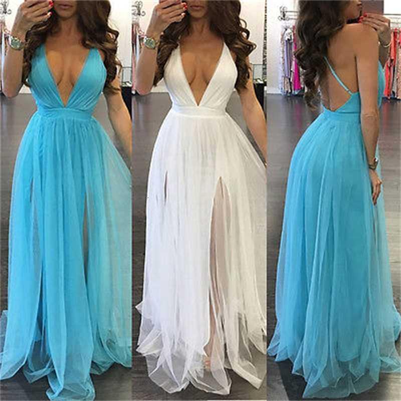 Nuevas mujeres Boho Long Party Prom Floral Playa de verano Maxi Dress Dradies Vestidos para mujer Sexy Sundress