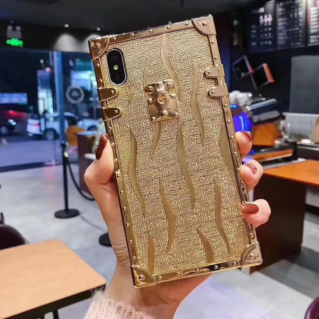 New Square Tyrant Gold 2020 iPhone 7 8 Plus XS XR XSmax 11 12Pro 12Pro Max Hard Coque Bling Case Gold 5 스타일