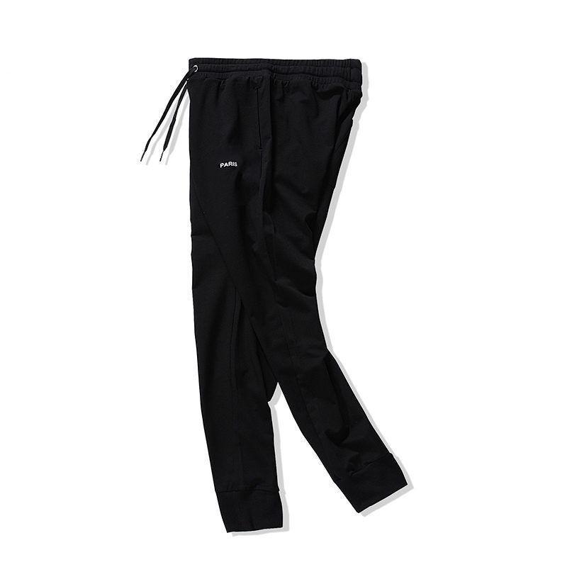 Fashion Mens Pant Paris Printed Embroidery Jogging Pants 2021 Men Women Stylist Hip Hop Street Jogger Stripe Trousers