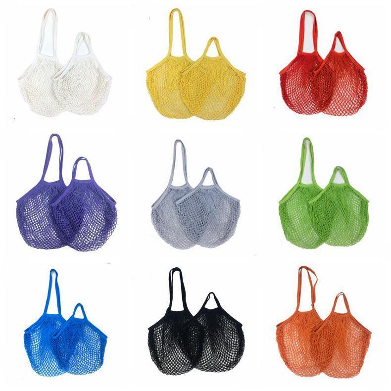 Сумки покупатель Tote короткая ручка покупок сумки сетки чистые овощи фрукты продуктовые сумки строки многоразовые хранения сумки организатор lsk2072