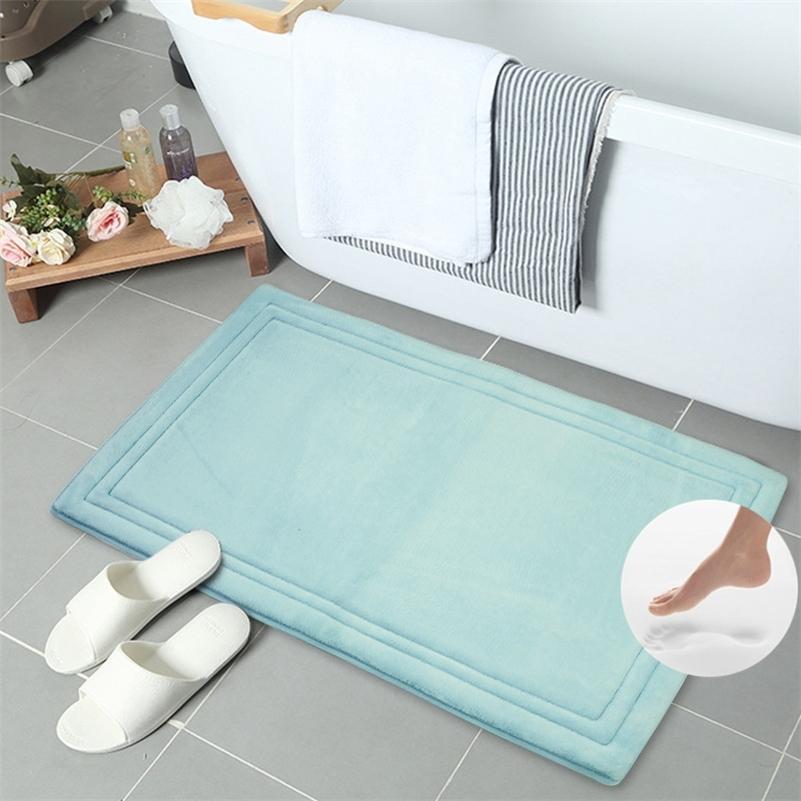 Высококачественные машины Моющаяся моющаяся вспенивающаяся ванна коврик против скольжения коврик для ванной комнаты дверной коврик туалет Ванная комната абсорбирующий ковер, LJ201130
