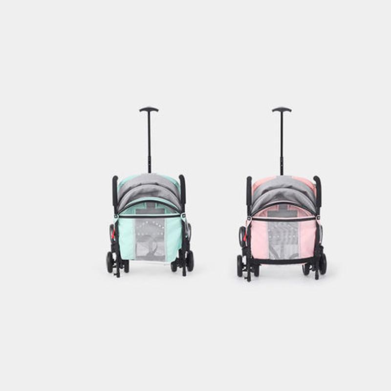 Bebek arabası oturup uzanabilir ultra ışık taşınabilir katlanır bebek şemsiye dört tekerlekli çocuk cep arabası rulman 25kg1