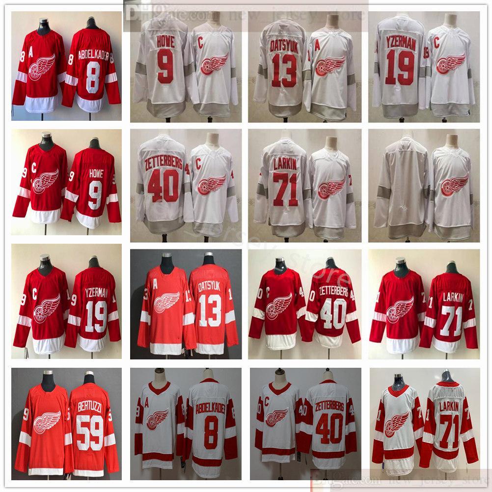 2021 retro retro Detroit Alas rojas Hockey Dylan Larkin Jerseys Justin Abdelkader Gordie Howe Pavel Datsyuk Steve Yzerman Henrik Zetterberg