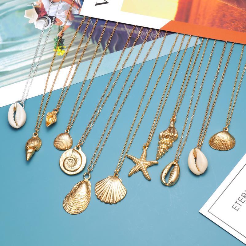 2020 mulheres boêmio colar de jóias Long pingant colar presente para mulheres cute praia colares jóias para melhor amigo