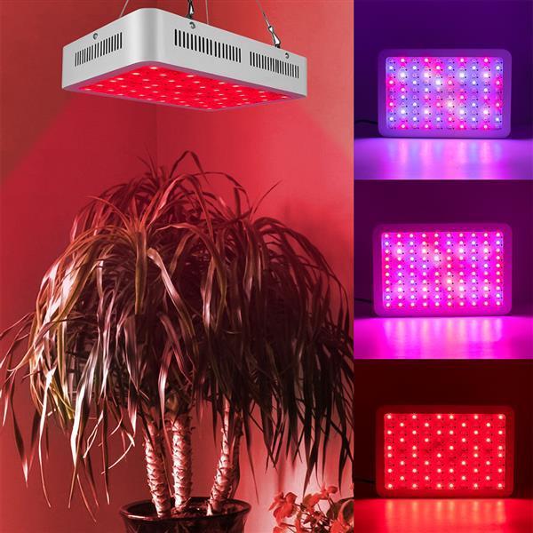 Nuevo 1000W DUAL chips 380-730nm Full Spectrum LED Planta Lámpara de crecimiento de la planta Blanco Material de grado superior Cultivar luces