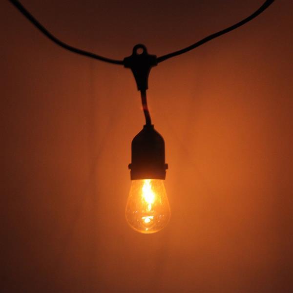 Ücretsiz Teslimat S14 24 adet Ampul Açık Yard Lambası Dize Işık Siyah Lamba Tel ile Yüksek Sınıf Malzemeleri LED Dizeleri
