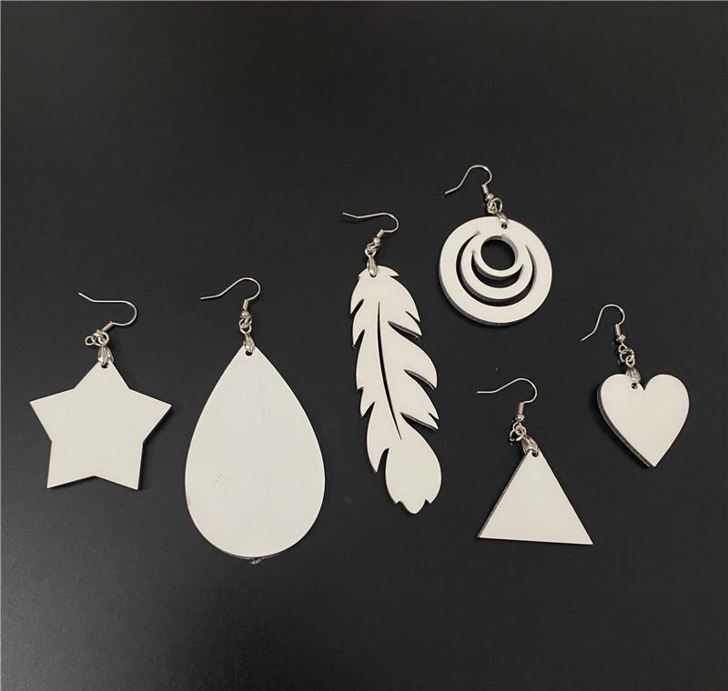 Presente personalizado da queda para a orelha de DIY com brinco de artesanato DIY Adorável em branco Novidade Sublimação de impressão de impressão de madeira Hea SQCYN