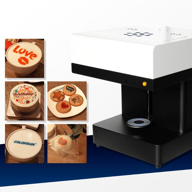 Colorsun 커피 프린터 케이크 인쇄 기계 잉크젯 프린터 셀카 커피 식용 잉크로 기계를 인쇄