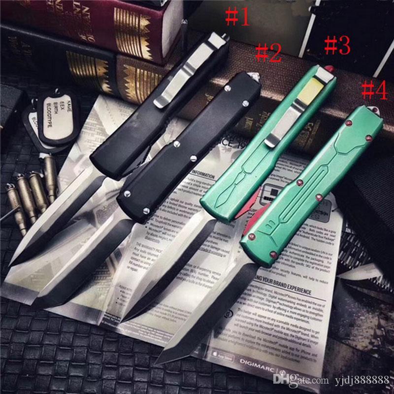 Couteau automatique de haute qualité MT UT85 Couteau tactique de la légère défense D2 Blade Aluminium Poignée EDC Camping en plein air Couteau de combat UT88 C07