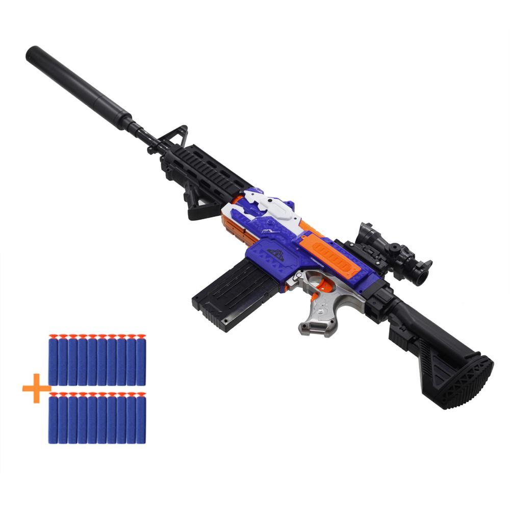 총 소총 전기 촬영 다트 소프트 홀 머리 글 머리 기호 재미 있은 아이 게임 어린이 생일 선물 소년 장난감