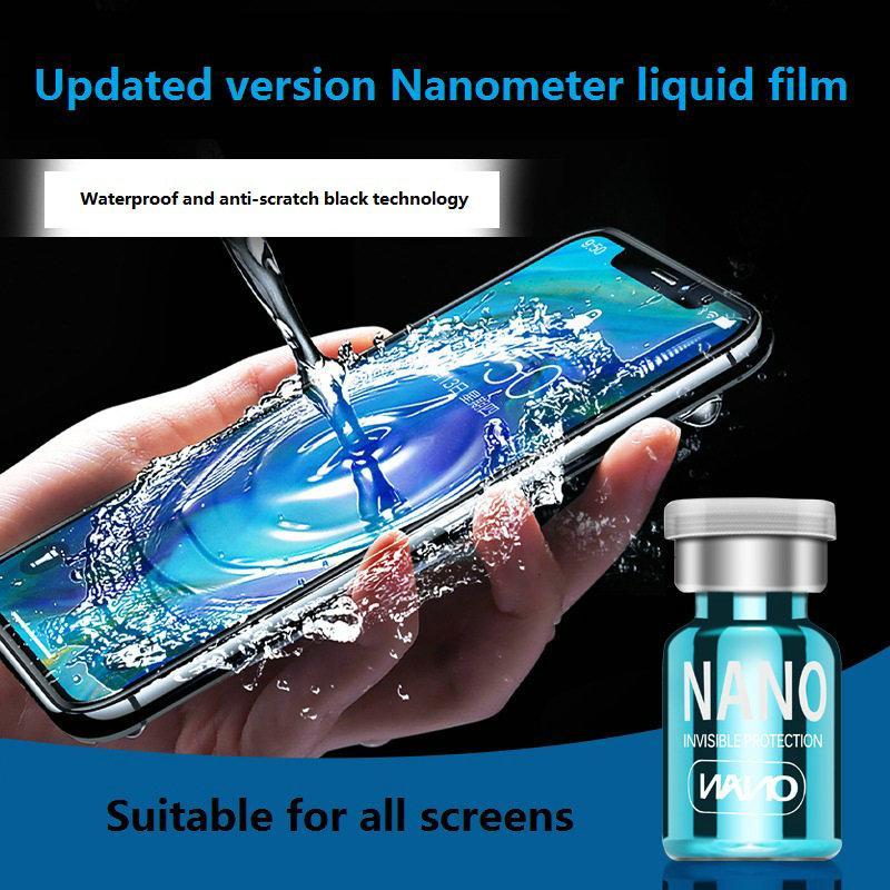 Protetor de tela de tecnologia nano líquido 3d borda curvada anti riscos de vidro temperado para iphone samsung