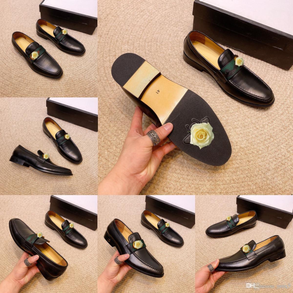 Genuine Pelle Misto Misto Uomini Daily Designer Designer Designer Designer Formal Shoes Office Social Designer Wedding Luxury Elegante Abito da uomo