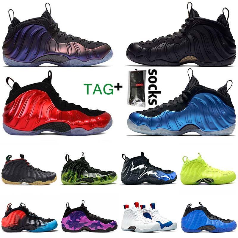 أزياء رخيصة الباذنجان جزيرة أخضر لامع الأحمر الرجال لكرة السلة أحذية الهواءبيني Foamposite Pro Penny Hardaway Shoes  Foamposite الأحذية أحذية رياضية الرجال المدربين الرياضية