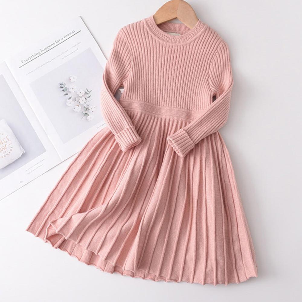 곰 리더 걸스 겨울 옷 세트 긴 소매 스웨터 셔츠 스커트 2 PCS 의류 슈트 나비 아기 복장 어린이 옷 C1223