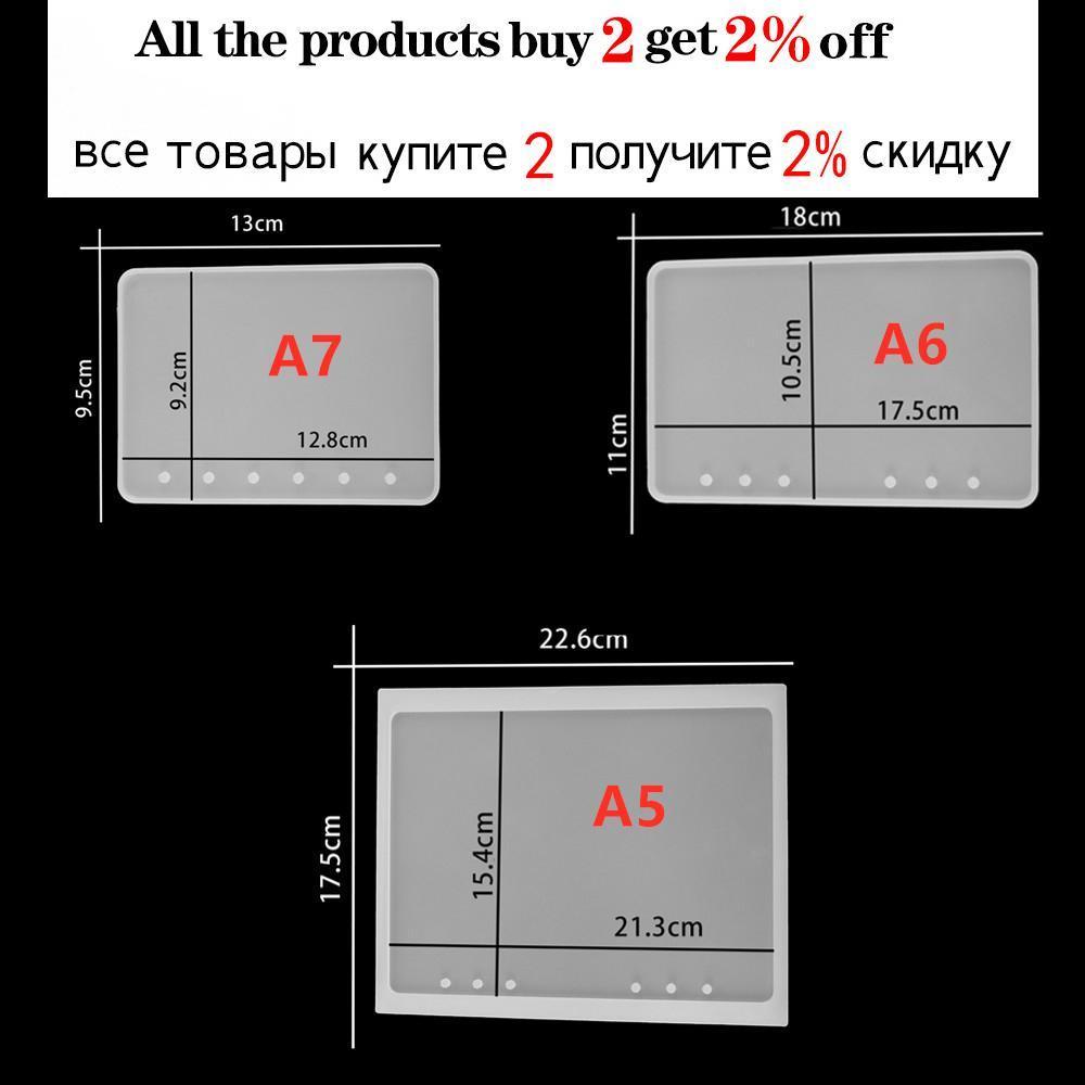 A5 A6 A7 Copertina per notebook in silicone Stampi in resina in silicone per la produzione di gioielli Kit di strumenti di stampo in resina FAI DA TE CRISTALLO TRASPARENTE UV Stampi resina epossidica SQCMQE